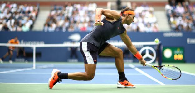 Rafael Nadal al resto en 2018. Foto: zimbio