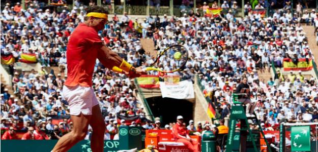 Rafael Nadal en Copa Davis. Foto: gettyimages