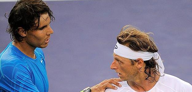 Rafael Nadal con David Nalbandian. Foto: AP