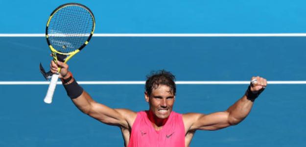 Rafael Nadal habla tras ganar a Pablo Carreño en Open de Australia 2020. Foto: gettyimages