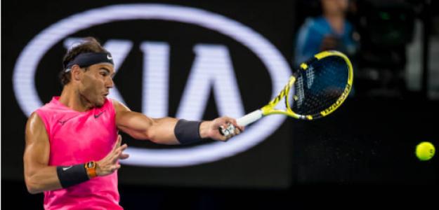 Rafael Nadal gana a Federico Delbonis en Open Australia 2020. Foto: gettyimages