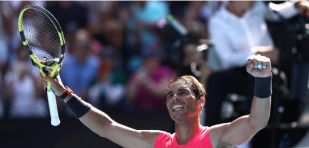 Rafael Nadal habla tras ganar a Dellien en Open de Australia 2020. Foto: gettyimages