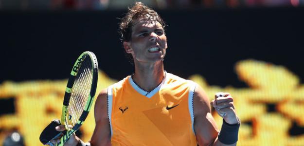 Rafael Nadal en Open de Australia 2019 al ganar a Tomas Berdych. Foto: zimbio