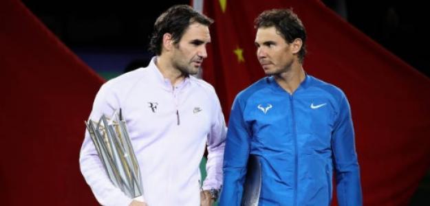 Rafael Nadal y Roger Federer en el Open de Australia 2017. Foto: Getty Images