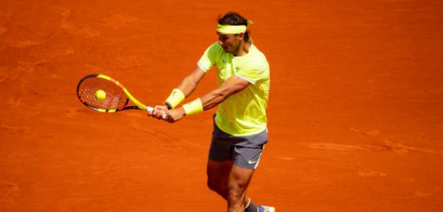 Rafael Nadal en Roland Garros 2019 ante David Goffin. Foto: zimbio