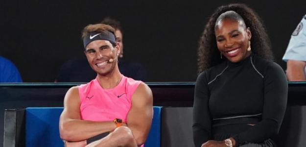 Rafa Nadal y Serena Williams, los GOAT de las redes sociales. Foto: Getty
