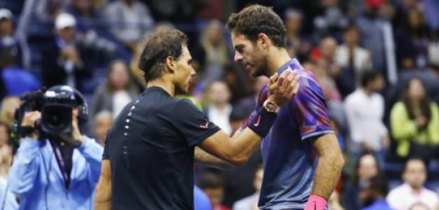Rafael Nadal y Juan Martín del Potro. Foto: Getty Images