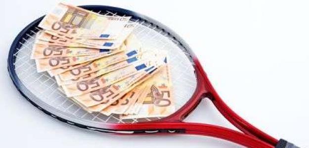 Tenis y dinero, una combinación que no es tan real. Fuente: Getty