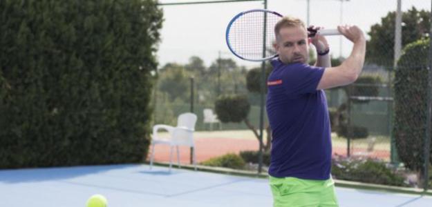 Probamos la nueva raqueta de Wilson, la Ultra 100 v3. Foto: Rubén Gil