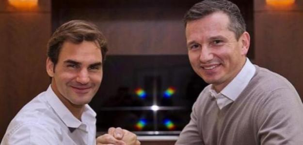 Federer y Krajicek. Foto: Rotterdam