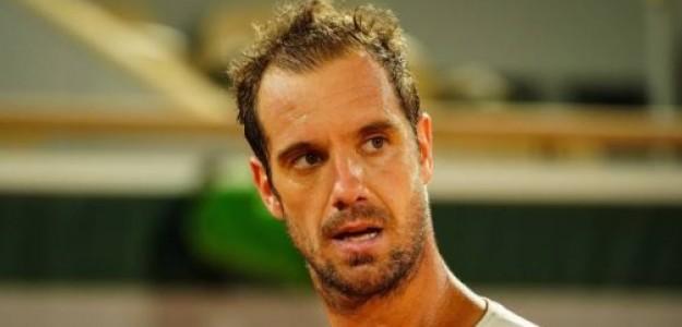 Un Gasquet de nuevo realmente frustrado ante Rafa Nadal. Foto: Getty