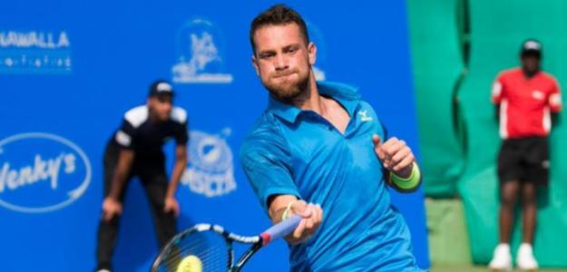 Ricardo Ojeda durante el torneo de Pune. Fuente: ATP
