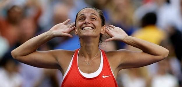 Roberta Vinci, la italiana que negó el Calendar Grand Slam a Serena Williams. Foto: Getty