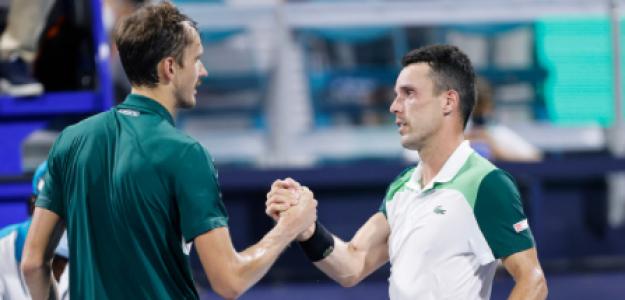 Roberto Bautista habla de victoria ante Daniil Medvedev en Miami Open 2021. Foto: gettyimages