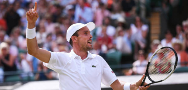 Roberto Bautista en Wimbledon 2019. Foto: gettyimages