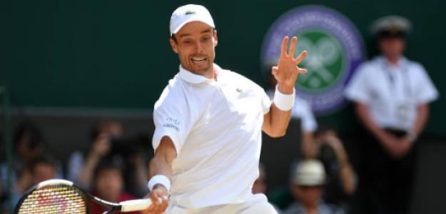 Roberto Bautista, durante las semifinales de Wimbledon. Fuente: Getty