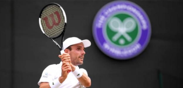 Roberto Bautista gana a Guido Pella en Wimbledon 2019. Foto: gettyimages