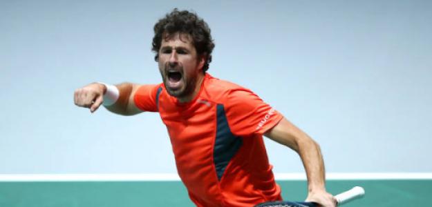 Haase celebra durante la disputa de la Copa Davis 2019. Fuente: Getty