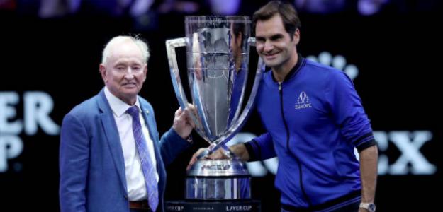 Rod Laver y Roger Federer. Foto: Getty