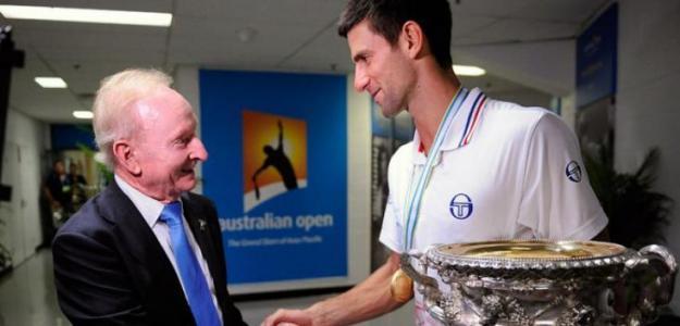 Rod Laver y Roger Federer