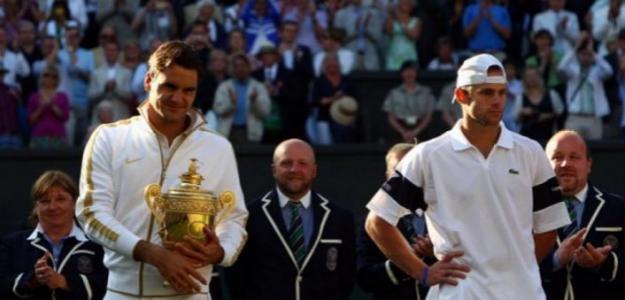 Andy Roddick en la fnal de Wimbledon 2009. Foto: Getty