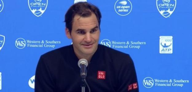 Roger Federer, subcampeón en Cincinnati.