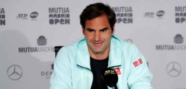 Roger Federer en su conferencia de bienvenida. Fuente: Getty
