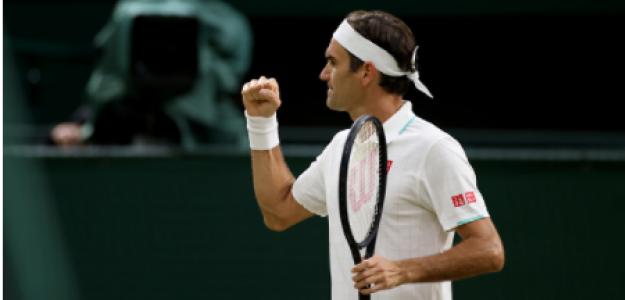 Roger Federer, cuartos final Wimbledon 2021. Foto: gettyimages