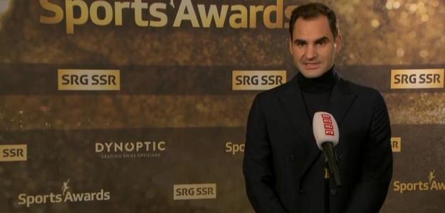 Roger Federer, participación Open de Australia 2021. Foto: Swiss Sports Awards 2020