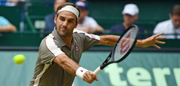 Roger Federer en Halle 2019. Foto: gettyimages