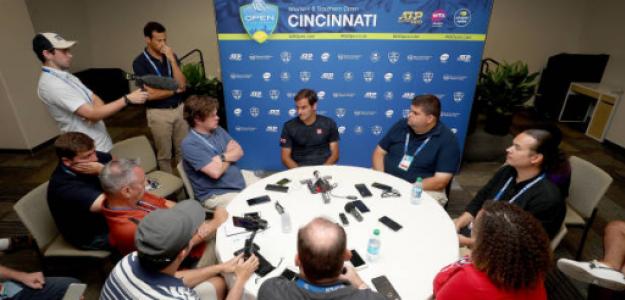 Roger Federer en ATP Masters 1000 Cincinnati 2019. Foto: gettyimages