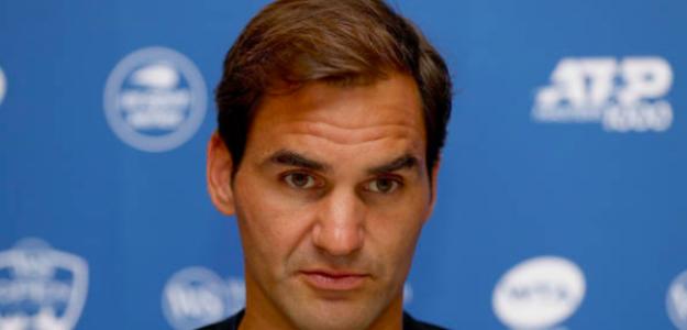 Roger Federer en sala de prensa. Fuente: Getty