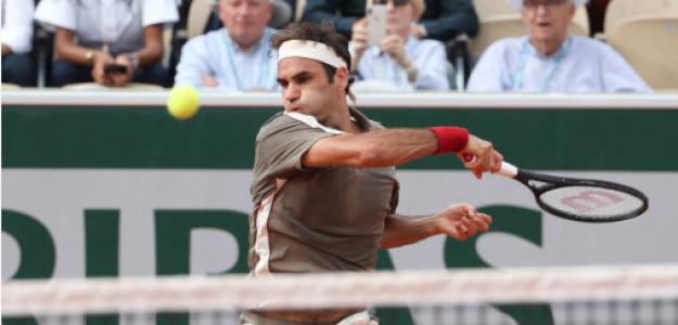 Roger Federer en Roland Garros 2019. Foto: gettyimages