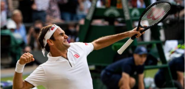 Roger Federer gana a Rafael Nadal en Wimbledon 2019. Foto: gettyimages