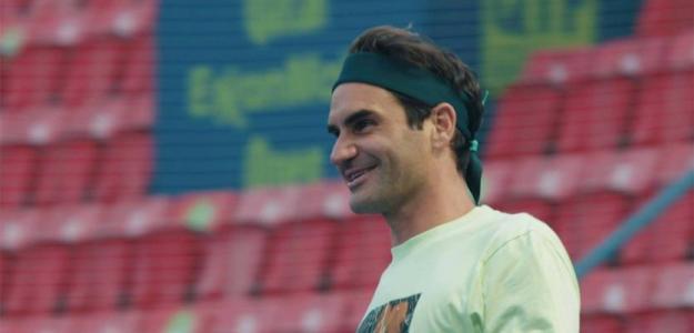 Roger Federer, declaraciones en Doha. Foto: atptour.com