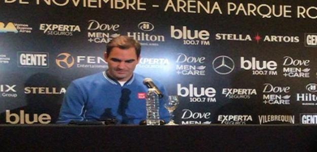 Roger Federer brindó una conferencia en Buenos Aires. Foto: Punto de Break