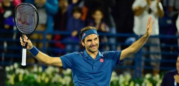 Roger Federer en ATP 500 Dubai 2019. Foto: zimbio