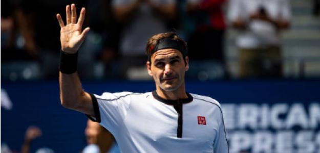 Roger Federer celebra la victoria ante Goffin. Fuente: Getty