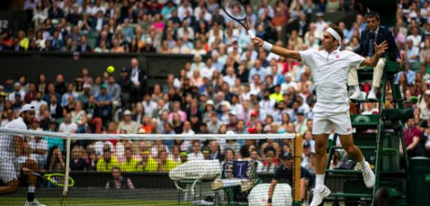 Roger Federer en Wimbledon 2019. Foto: Getty