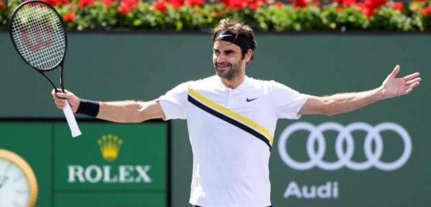 Roger Federer en Indian Wells. Foto: zimbio
