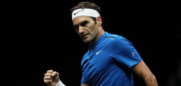 Roger Federer en Laver Cup. Foto: zimbio