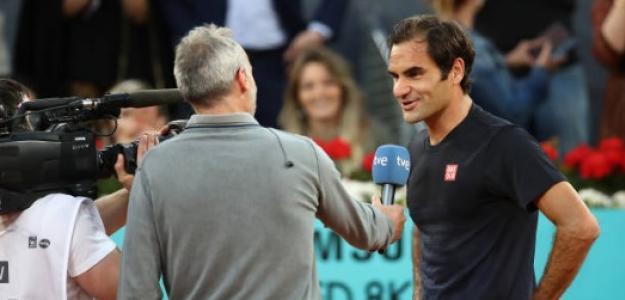 Roger Federer en Madrid. Foto: Getty Images