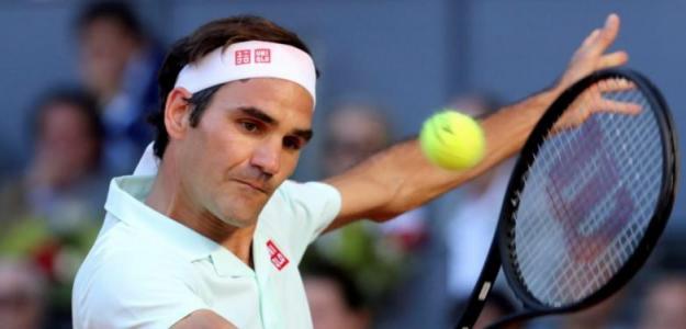 Roger Federer durante su participación en el Mutua Madrid Open 2019