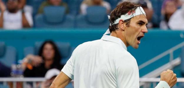 Roger Federer en Miami Open 2019. Foto: zimbio