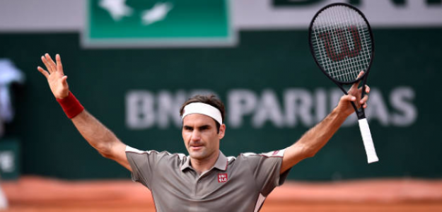 Roger Federer celebra la victoria ante Wawrinka. Foto: Getty