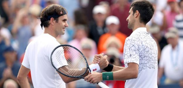 Roger Federer y Novak Djokovic en US Open 2018. Foto: zimbio