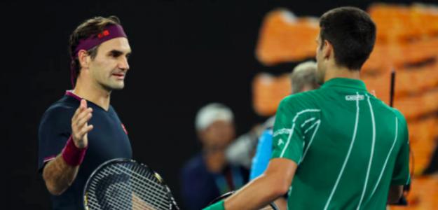 Roger Federer y Novak Djokovic. Fuente: Getty