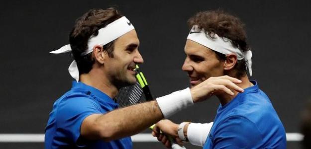 Roger Federer y Rafael Nadal. Foto: Getty