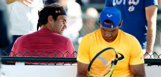 Roger Federer y Rafael Nadal en Indian Wells 2019