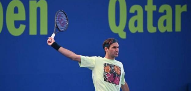 Roger Federer, retos estadísticos 2021. Foto: qatartennis.org